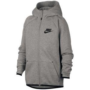 Nike B NSW TCH FLC FZ ESSENTIALS Kapucnis kabát - Szürke - XS