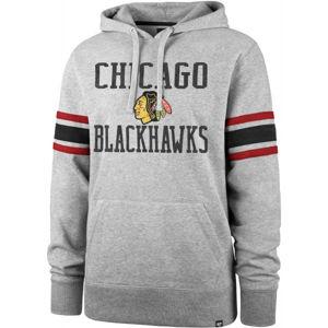 47 NHL CHICAGO BLACKHAWKS DOUBLE BLOCK SLEEVE STRIPE HOOD  S - Pulóver