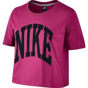 Nike PREP TOP-CROPPED Rövid ujjú póló - Fialová