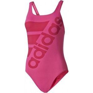 adidas SOLID SWIMSUIT rózsaszín 36 - Női egyrészes fürdőruha