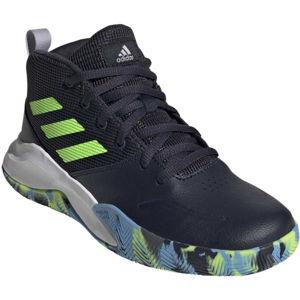 adidas OWNTHEGAME K WIDE kék 34 - Gyerek szabadidőcipő