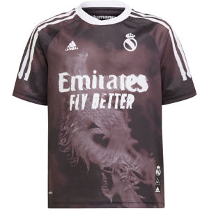 adidas REAL MADRID HUMAN RACE JERSEY YOUTH Póló - Fekete - M (147-152 cm)