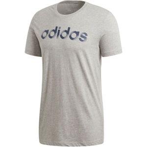 adidas SLICED LINEAR szürke XL - Férfi póló