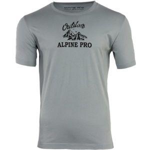 ALPINE PRO DARNELL 2 szürke L - Férfi póló