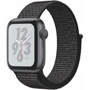 Apple Apple Watch + Series 4 GPS, 40mm Space Grey Aluminium Case with Black Sport Loop Karórák - Fekete - ks