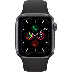 Apple Apple Watch Series 5 GPS, 40mm Space Grey Aluminium Case with Black Sport Band Karórák - Fekete - ks