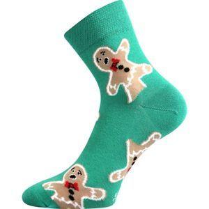 Boma PATTE 022 zöld 35/38 - Karácsonyi zokni