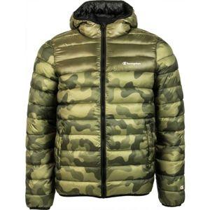 Champion HOODED JACKET zöld S - Férfi télikabát