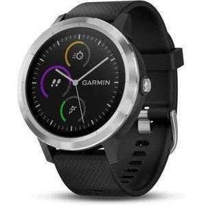 Garmin GARMIN vivoActive3 Optic Silver, Black band Karórák - Černá