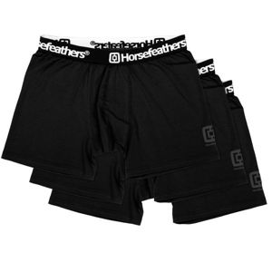 Horsefeathers DYNASTY 3PACK BOXER SHORTS fekete S - Férfi boxeralsó