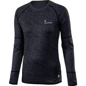 Klimatex ELENA fekete XS - Hosszú ujjú női futó póló