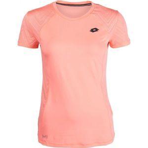 Lotto INDY VI TEE PL W rózsaszín XS - Női sportpóló