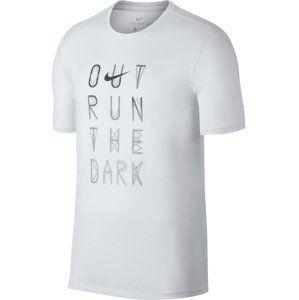 Nike M NK DRY TEE DBL STMT VERB Rövid ujjú póló - Bílá