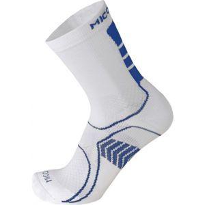 Mico LIG WEIGHT MID BIKE kék XL - Funkcionális kerékpáros zokni