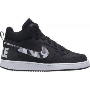 Nike COURT BOROUGH MID (GS) fekete 3.5Y - Gyerek szabadidőcipő