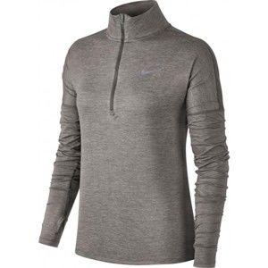 Nike DRI-FIT ELEMENT TOP HZ sötétszürke L - Női póló futáshoz