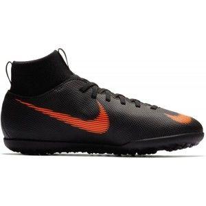 Nike JR SUPERFLYX 6 TF fekete 4Y - Gyerek turf futballcipő