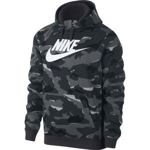 Nike NSW CLUB CAMO HOODIE - Férfi kapucnis pulóver