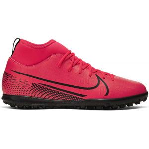 Nike JR MERCURIAL SUPERFLY 7 CLUB TF rózsaszín 4Y - Gyerek turf futballcipő