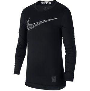 Nike B NP TOP LS COMP HO18 2 Hosszú ujjú póló - fekete