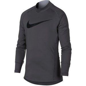 Nike B NP WM TOP LS MOCK GFX Hosszú ujjú póló - Szürke - XL