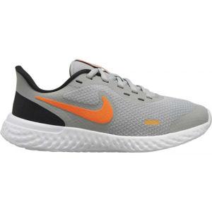 Nike REVOLUTION 5 (GS) szürke 4Y - Gyerek futócipő