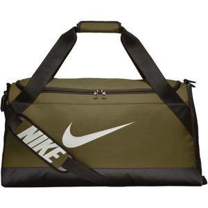 Nike BRASILIA MEDIUM DUFFEL sötétzöld M - Sporttáska