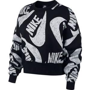 Nike NSW ICN CLSH FLC CREW W fehér M - Női pulóver