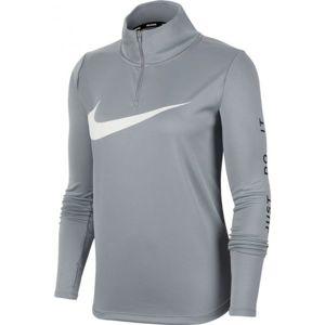 Nike MIDLAYER QZ SWSH RUN W szürke M - Női futópóló