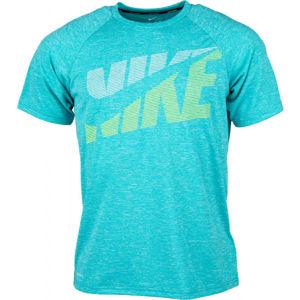 Nike HEATHER TILT kék S - Férfi úszópóló