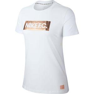 Nike W NK FC TEE BLOCK LOGO Rövid ujjú póló - Fehér - XL