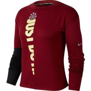 Nike W NK ICNCLSH SPHR TOP CREW Hosszú ujjú póló - Bordó - S