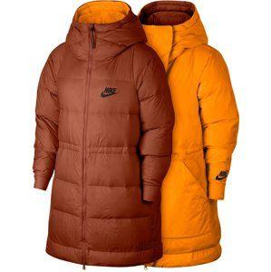 Nike W NSW DWN FILL JKT REV Kapucnis kabát - narancs