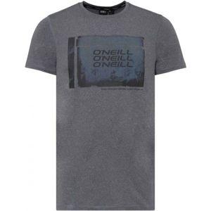 O'Neill PM PHOTO HYBRID T-SHIRT szürke S - Férfi póló