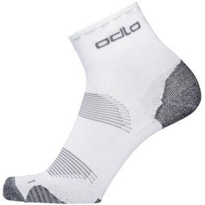 Odlo SOCKS CERAMICOOL CYCLING QUARTER fehér 39 - Uniszex zokni