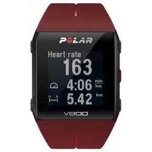 POLAR V800 HR piros  - Sportóra GPS-szel