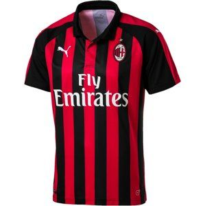 Puma AC Milan HOME Shirt Replica SS with Spon 2018/19 Póló - piros