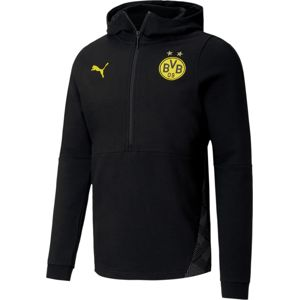 Puma BVB CASUALS FOOTBALL HOODIE Kapucnis melegítő felsők - Fekete - L