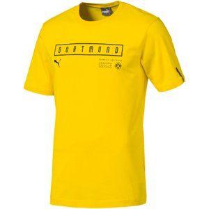 Puma BVB Fan Tee Cyber Yellow Rövid ujjú póló - borostyán