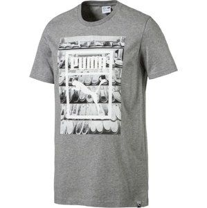 Puma Photoprint Shoes Tee Medium Gray Heather Rövid ujjú póló - Šedá