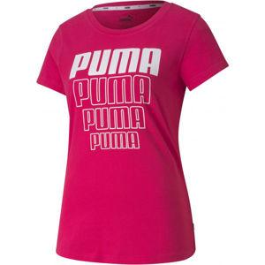 Puma REBEL GRAPHIC TEE rózsaszín XL - Női sportpóló