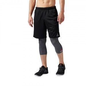 Reebok WORKOUT READY KNIT SHORT fekete XL - Férfi rövidnadrág edzéshez