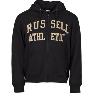 Russell Athletic ZIP THROUGH TACKLE TWILL HOODY - Férfi pulóver