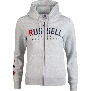 Russell Athletic PRINTED ZIP THROUGH HOODY SWEATSHIRT - Női pulóver