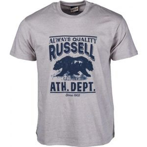Russell Athletic S/S CREW TEE WITH DISTRESSED BEAR PRINT - Férfi póló