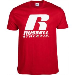 Russell Athletic S/S CREWNECK TEE SHIRT piros M - Férfi póló