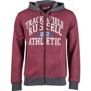 Russell Athletic ZIP THROUGH HOODY  WITH GRAPHIC PRINT fekete S - Férfi pulóver
