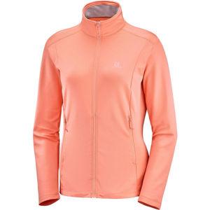 Salomon DISCOVERY LT FZ W narancssárga S - Női kabát