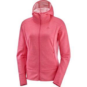 Salomon RIGHT NICE MID HOODIE rózsaszín L - Női sportfelső