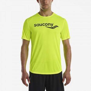 Saucony SHORT SLEEVE VIZIPRO CI - Férfi felső futáshoz